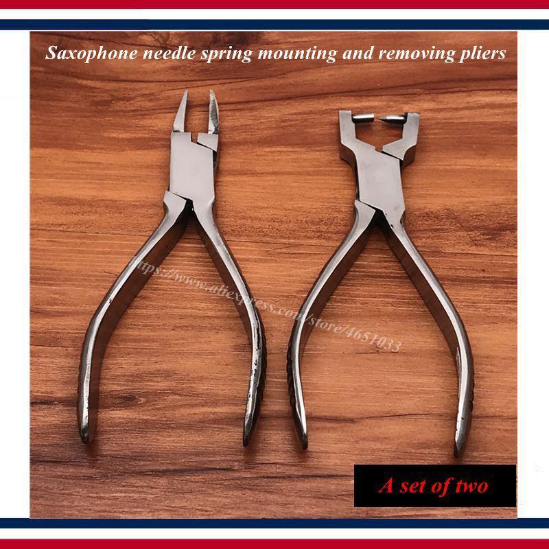 Vento riparazione dello strumento strumento - Sassofono strumenti di riparazione - Sassofono primavera ago montaggio e lo smontaggio delle pinze