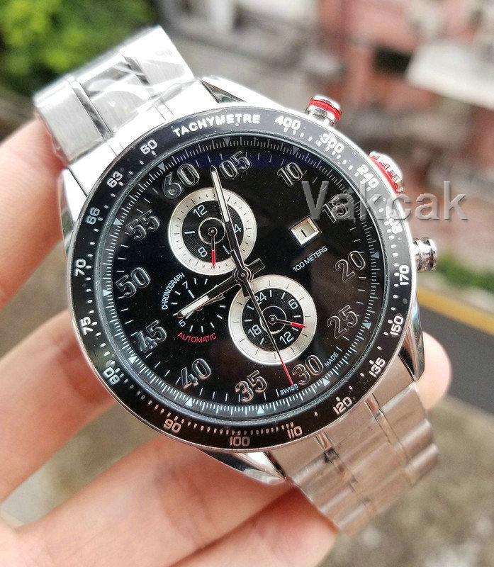 Neue Top 2813 Männer mechanische Edelstahl-automatische Bewegungs-Uhr-Sport-Männer Selbst Wind Uhren Tag Armbanduhr