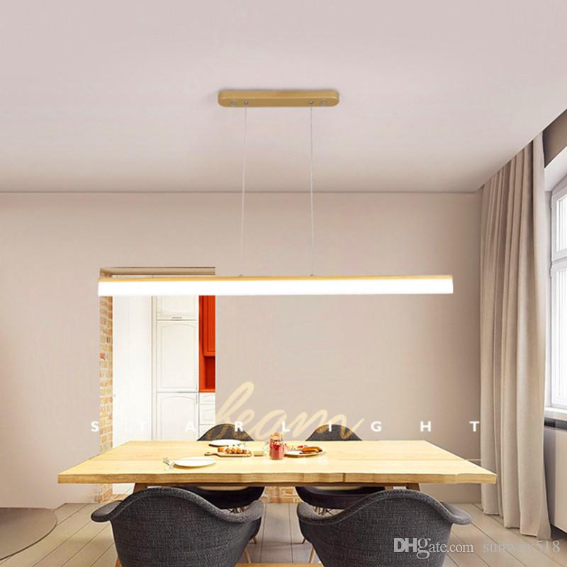 moderno estúdio minimalista criativo bar sala de aula escritório retangular lâmpadas sala longo lustre lâmpada LED restaurante