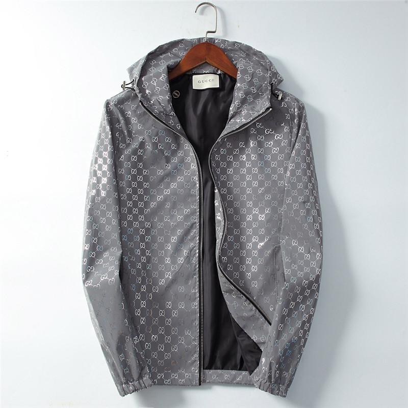 Designer Herren Jacke mit Kapuze Herbst Sonnenschutz Mantel-Qualitäts-Dünne Windjacken Außen Reflektierende Jacken Freizeit Bekleidung Mäntel