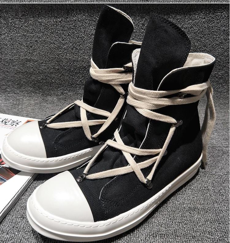 Hot Sale-ginal TPU Fragrant sole Earth-Tone Vegan high top genuine canvas sneaker trainer boots