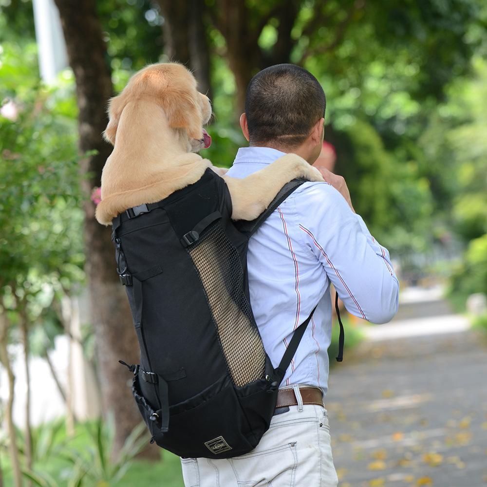 الكلب الناقل الحيوانات الأليفة الكتف المسافر حقيبة الكلب نتوء أكياس التهوية تنفس قابل للغسل في الهواء الطلق دراجة المشي الظهر دروبشيبينغ