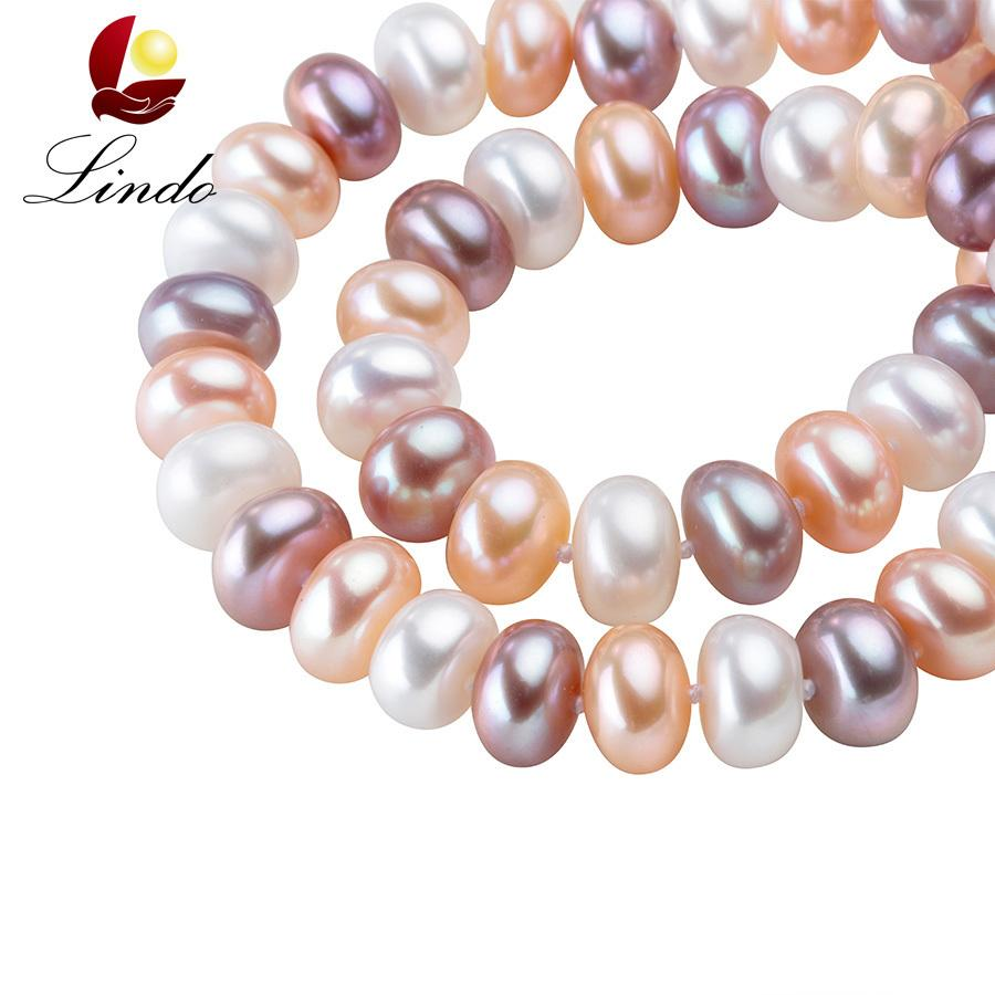 43/45/50/60/80cm Long Necklace For Women Classic 8-9mm Big Size Natural Pearl Choker Necklace Multi Color Pearl Necklace J190519