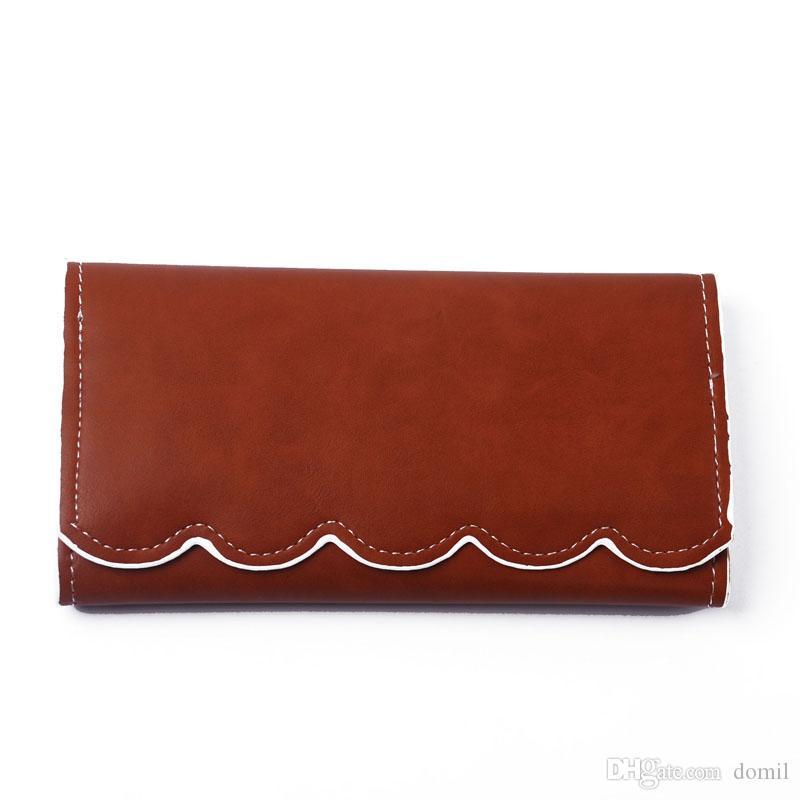 감자 디자이너 지갑 여성 PU 클러치 지갑 봉투 Pounch 핸드백 감자 가장자리 RTS 긴 지갑 DOM106389