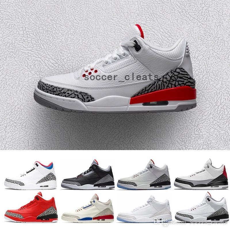Retro Katrina 3s Quai 54 men Basketball Shoes 3 Tinker Korea JTH Pure white Black Cement International Flight Free Throw Line Sport Sneakers