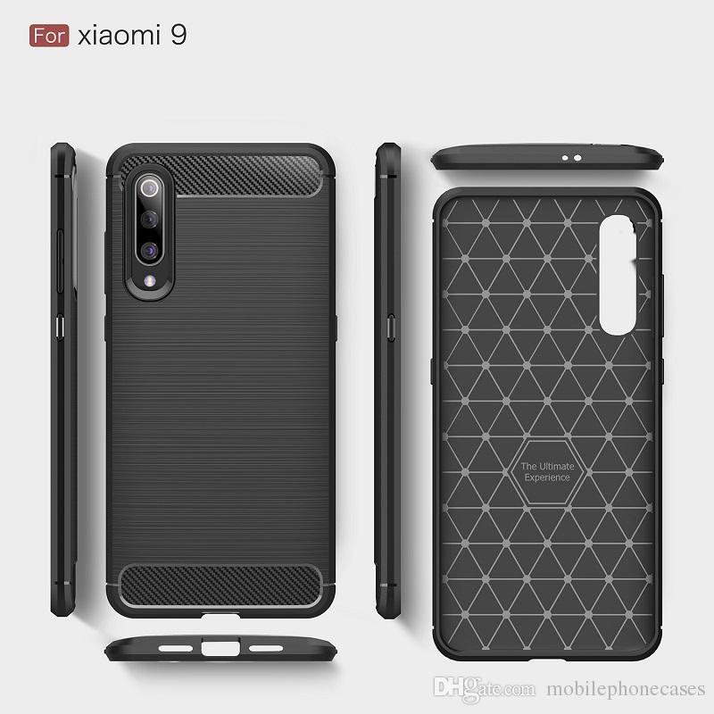 Case Designer 2019 per Xiaomi mi 9 Custodia Luxury Carbon per Xiaomi mi9 SE cover per Redmi Go DHL spedizione gratuita