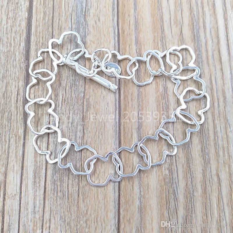 Аутентичные стерлингового серебра 925 серебряные браслеты и браслет подходит Европейский медведь ювелирные изделия подарок 516981510 стиль