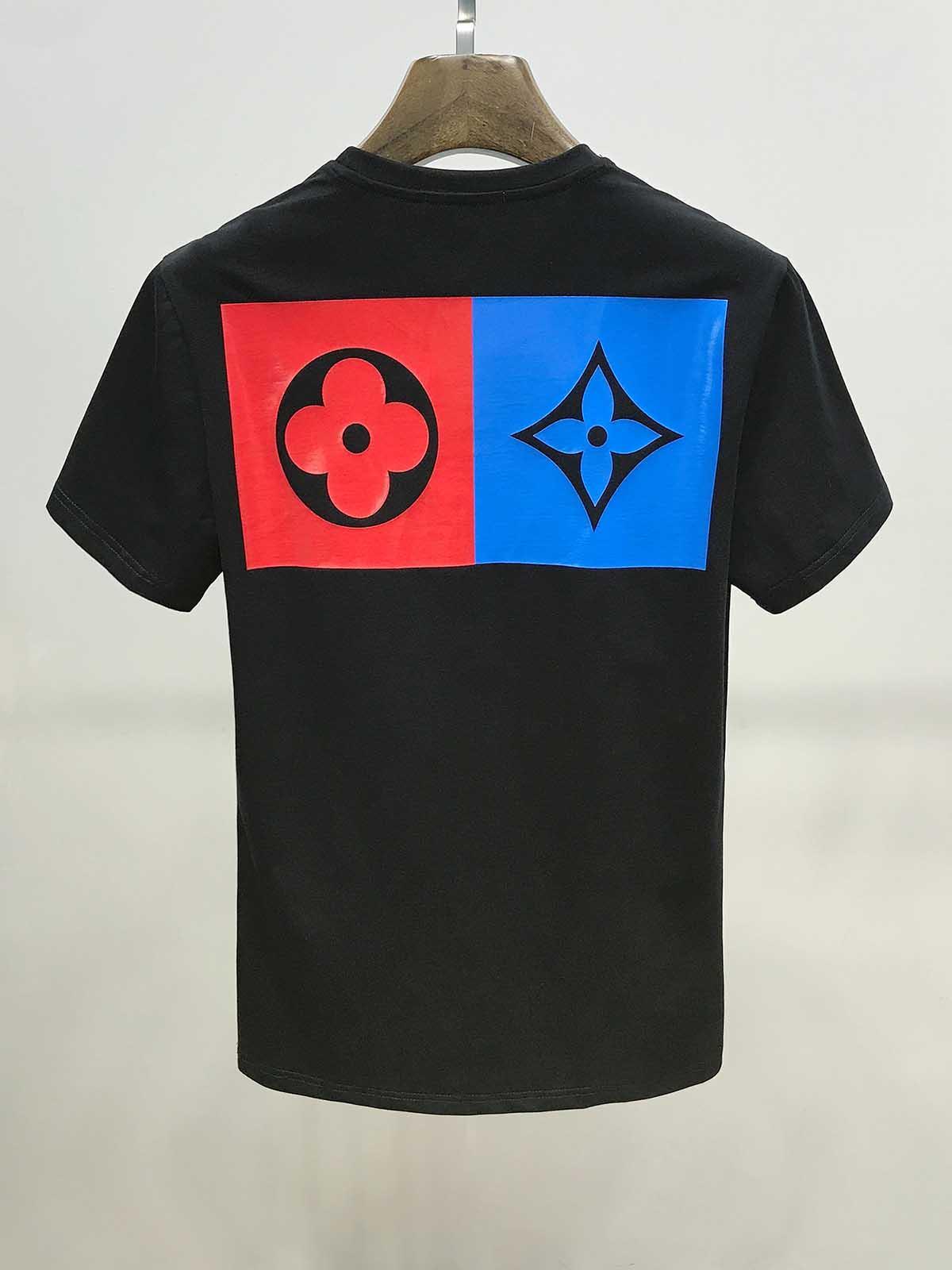 20SS Etichetta geometrica lettera stampa t-shirt moda propriedade hip-hop de rua a Maniche corte uomo e donna con lo t-shirt stesso topo
