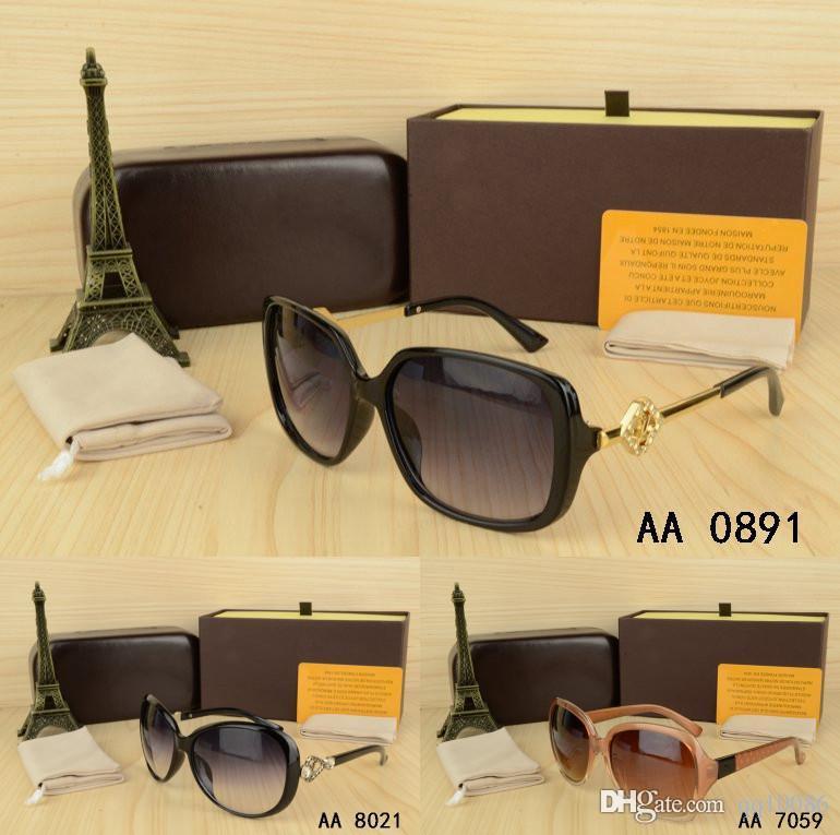 Gafas al aire libre mujer Gafas de sol con caja dama gafas bonitas gafas UV400 gafas Feminino Oculos De Sol hombre vantage Un regalo de cumpleaños