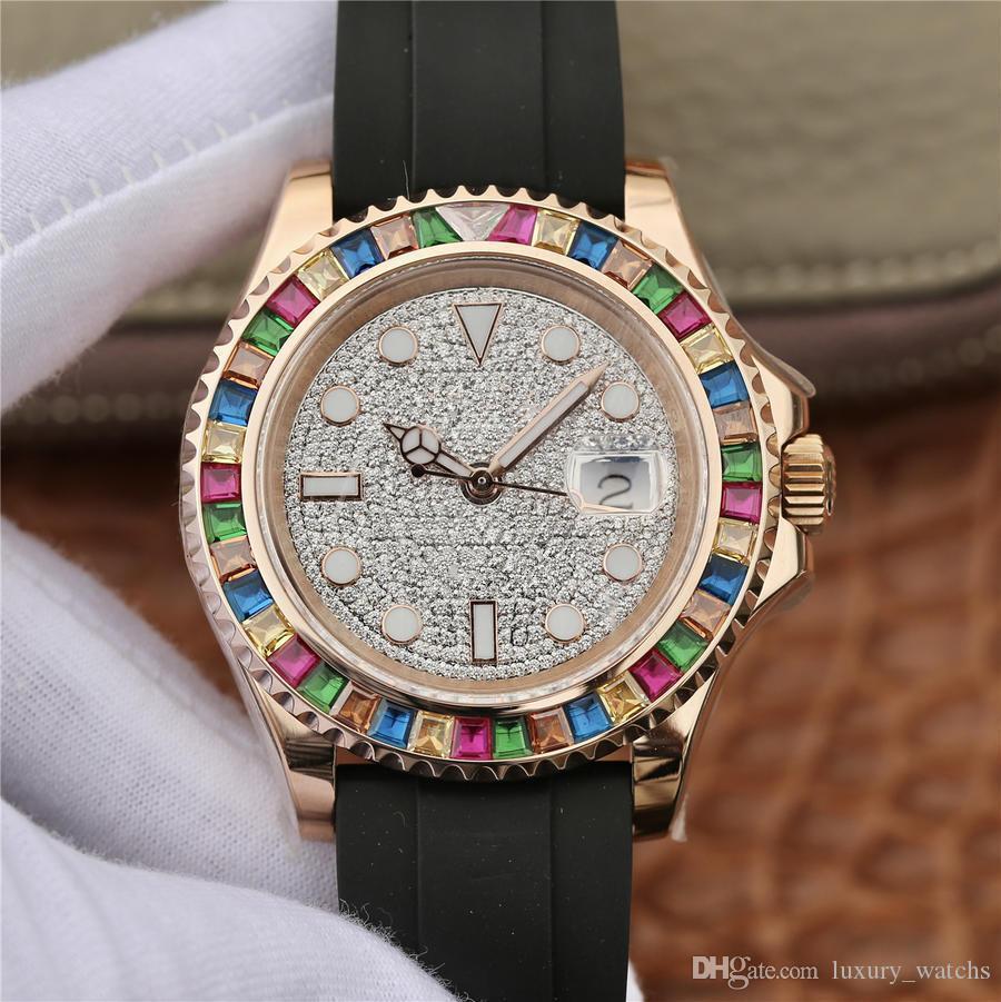 KS luxury diamond watch 116655-0005 загружены с 2836, 3135 механизм автоматические часы, 40 мм diamond watch luxury diamond watch