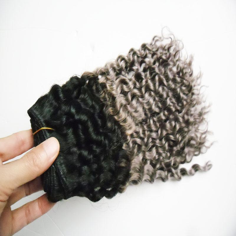 100% Cabelo Humano Brasileiro Kinky Curly Onda Pacotes de Cabelo Virgem 8-30 polegada ombre Cor Brasileira Tecer Cabelo Bundles