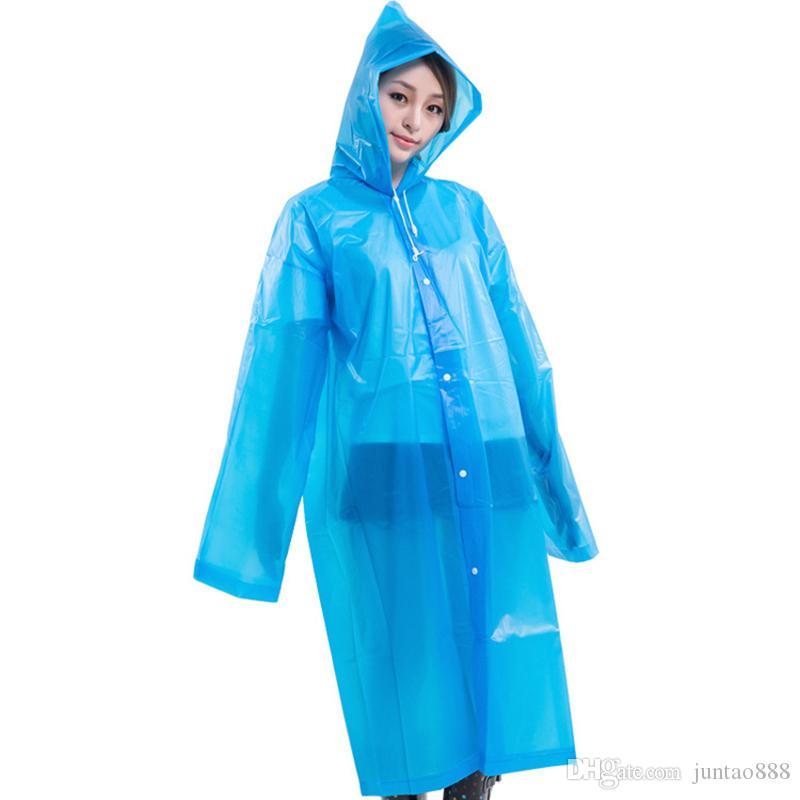 Viagem Outdoor Raincoats Adulto Moda espessamento não descartáveis EVA capa de chuva colorido Rainwear Universal Longo gabardinas frete grátis