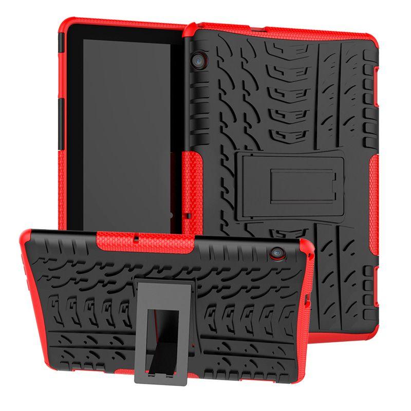 Coque antichoc KickStand PC pour TPU Soft Robot Armour hybride pour Huawei MediaPad T3 7.0 WiFi 8.0 10 9.6 M3 Lite 10.1 M5 8.4 10.8 Pouces T5 10