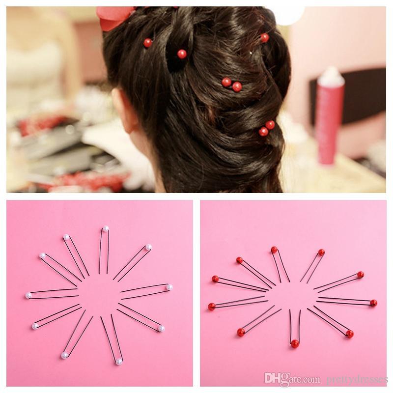 Оптовая Headdress Pearl Шпилька Плетеный зажим для волос Pin волос Свадебные украшения головные уборы Дешевые Свадебные аксессуары