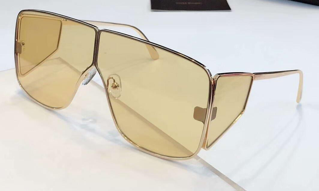 Gold Sunglasses Da 708 Spector Shades Glasses Occhiali Shiny Sole Sunglasses Men Sonnenbrille With Box Qaxgo