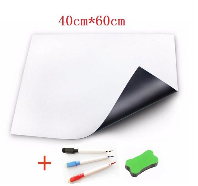 40cmx60cm Magnetic Whiteboard for Fridge Sticker Kitchen Pad Dry Erase White Boards Marker Eraser Flexible Writing Board Message