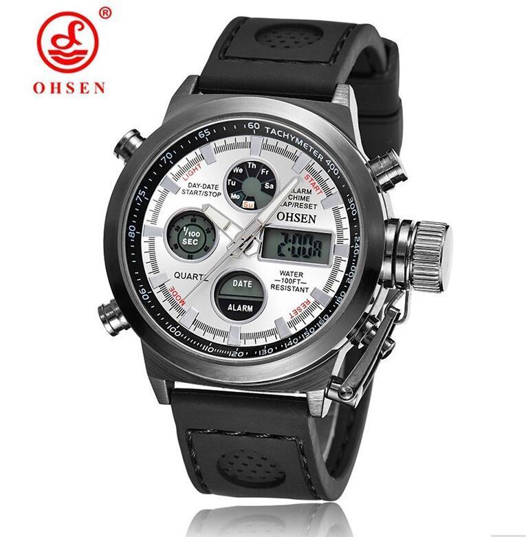 Relogio Masculino Watches LED Men Waterproof Nylon Strap G Sports Watches Digital Electronic Watch Drop Shipping