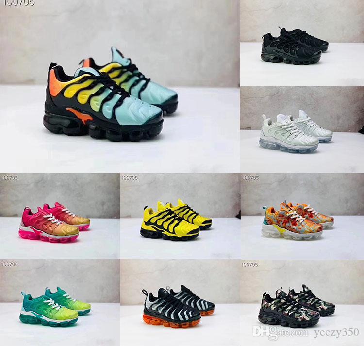 Bambini Plus Running Shoes Shoes cuscino delle ragazze delle scarpe da tennis di sport giovanile Childrens candeggiati Aqua superficie traspirante scarpe da ginnastica modelli ibridi TN
