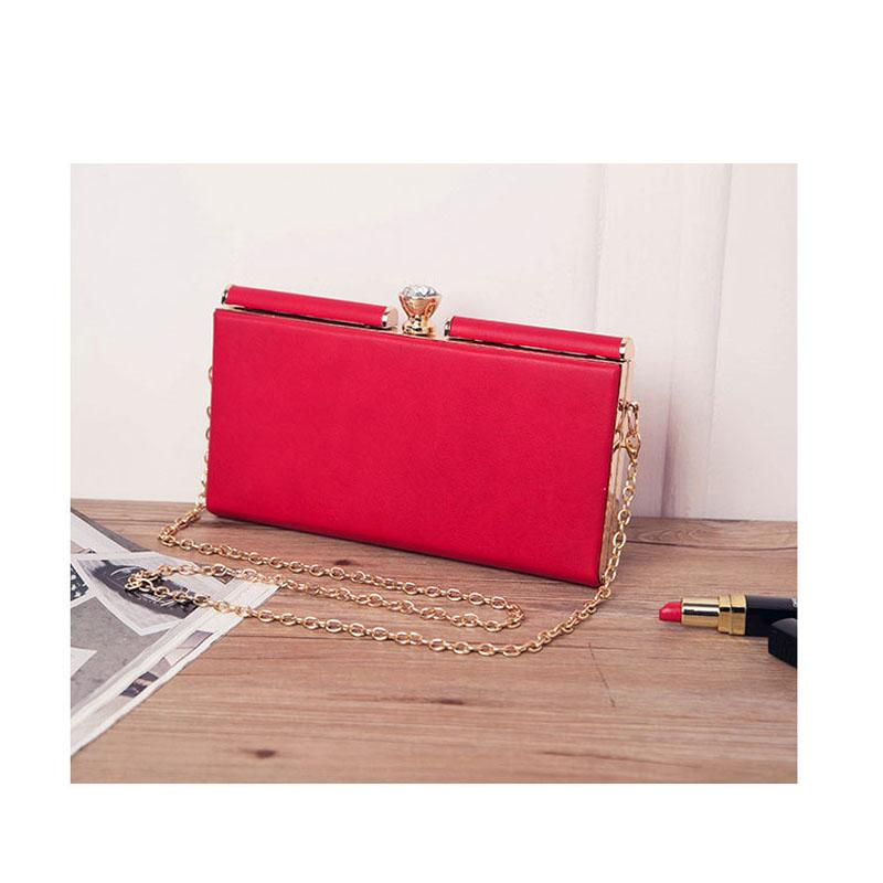 2020 High Quality PU Leather Crossbody Bags for Women Hasp Evening Party Shoulder Bag Ladies Small Chain Clutch Bag