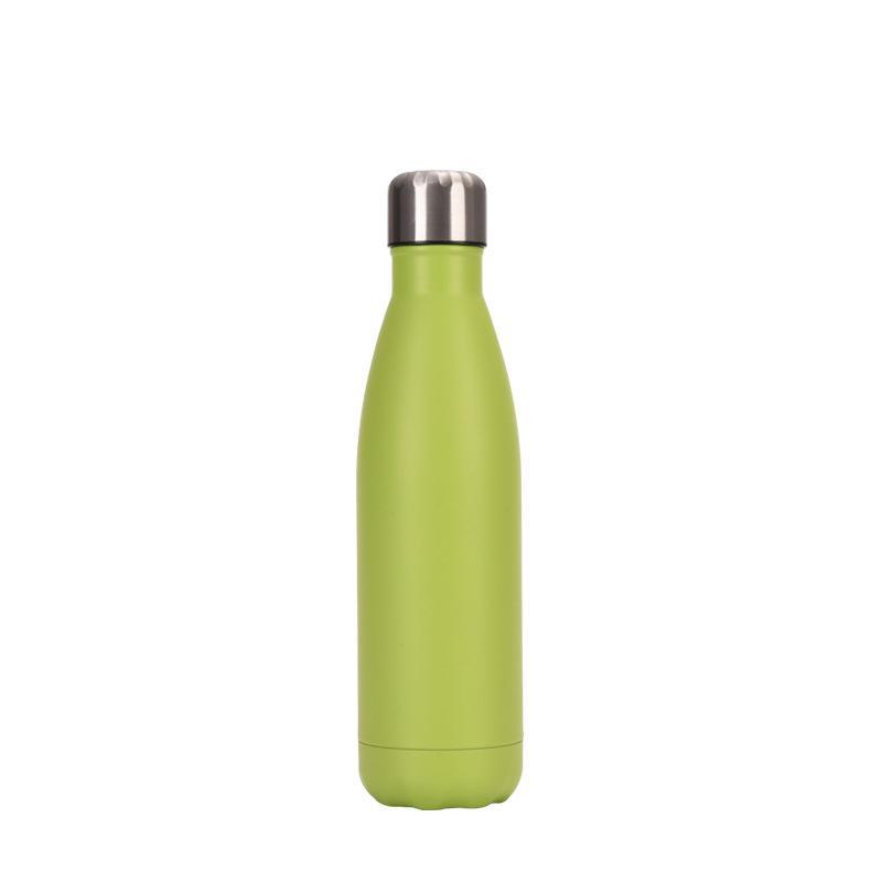 18/8 botella de acero inoxidable de 500 ml de agua de doble pared con aislamiento térmico botella de agua libre de BPA mantiene caliente y fría, Pure Color
