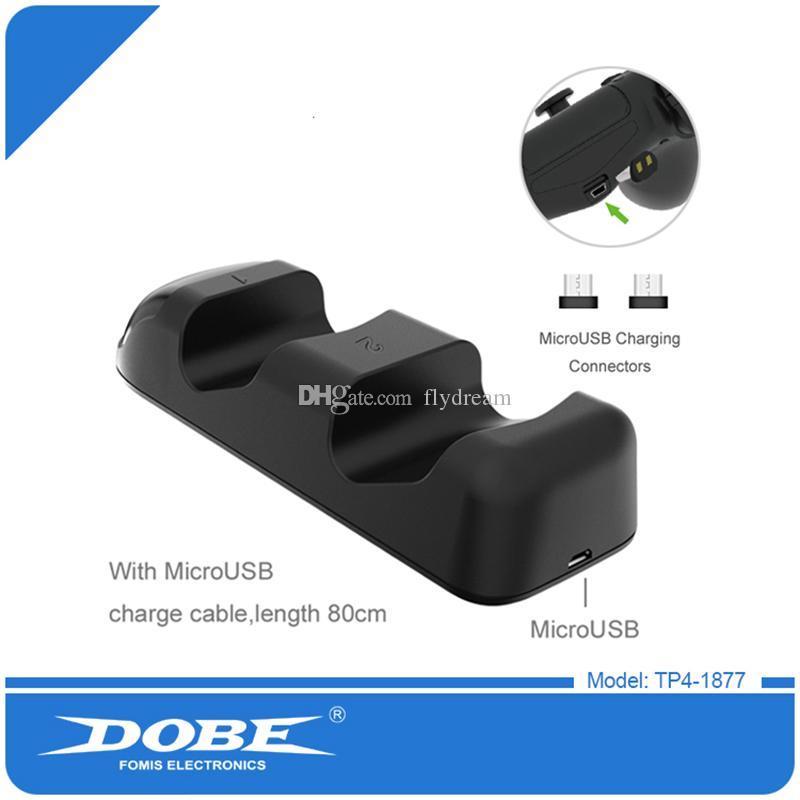 Controlador sem fio de carregamento USB LED duplo Charger Doca Mount suporte para PS4 Xbox jogo com Retail Box DHL Melhor