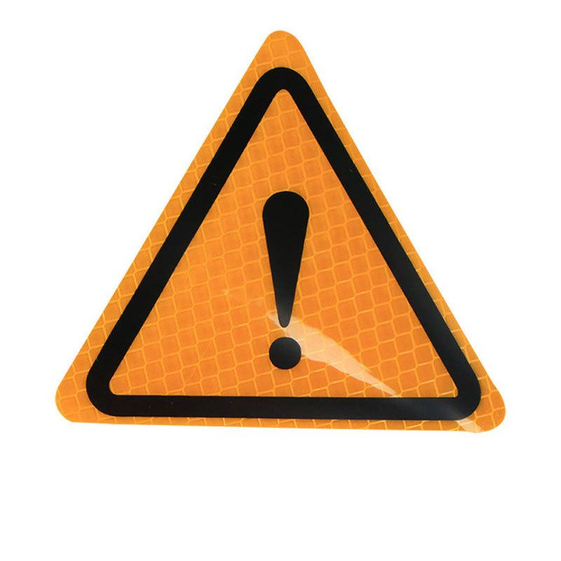 2pcs universali segni di avvertimento impermeabile adesivo riflettente pericolo paster per auto moto anticollisione protecter