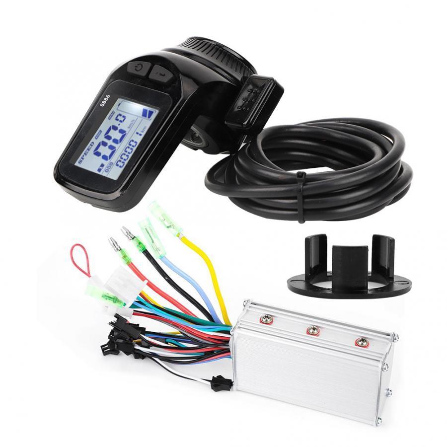 48V 350W Brushless Motor Controller LCD-Anzeige Daumen-Drossel für Elektro-Fahrrad-Roller E-Fahrrad Motor Controller anzeigen