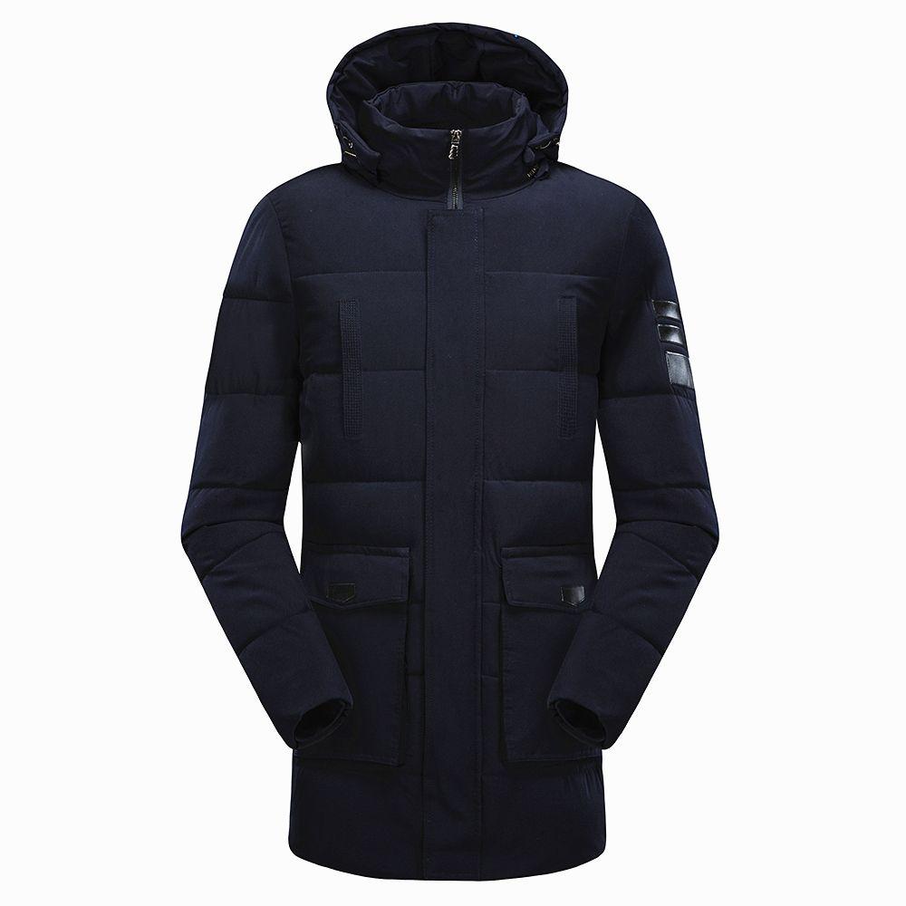8XL Men 2019 Winter New Long Hat Causal Thick Waterproof Warm Parkas Jacket Men Autumn Cotton Pockets Outwear Coat Parkas Men T200102
