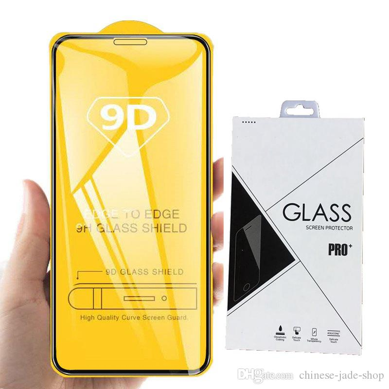 Full Cover 6D 9D Tempered Glass Screen Protector AB Glue for iPhone 11 2019 11 PRO 11 PRO MAX XR XS XS MAX 6 6S PLUS 7 8 PLUS 100pc Retail