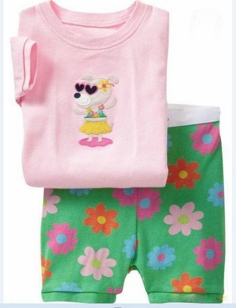 New Summer Shorts Pyjamas Children Pajamas Sets Boys Clothes Pijama Suit Girls Sleepwear Nightgown Cotton Kid Pijamas 2-7T