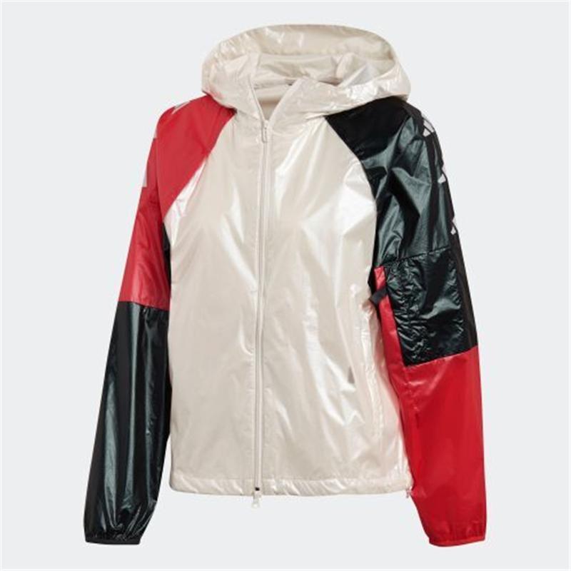 Спортивный дизайнер Марка куртка молния для женщин красный белый черный лоскутное ветровки работает повседневная пальто высокое качество Jackes B103612V