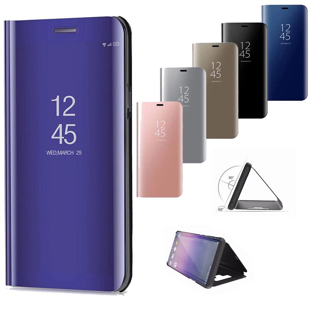 Smart Mirror en cuir pour Xiaomi Mi 10Pro 10Lite Note 10 Lite 9T Pro 9Lite A3 Luxe Clear Case pour redmi Note 9 9S 8T 8 7 Pro 8A 7A