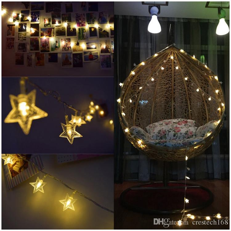 Star Star String Lights Battery USB Operated LED Twinkle Lights Indoor Fairy Lights Warm White for Patio Wedding Bedroom Princess