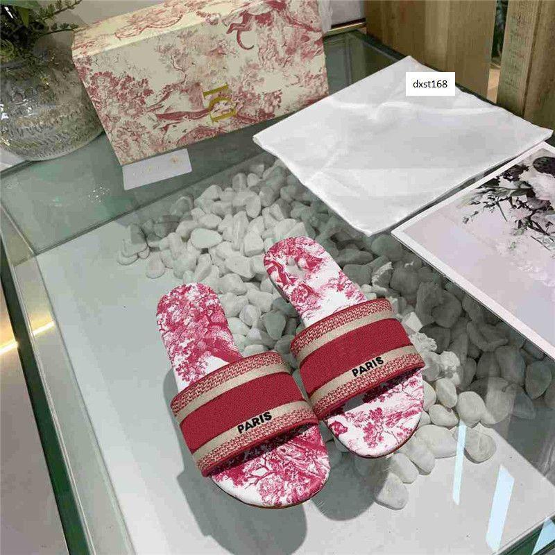 Últimas Lady lazer clássico primavera e no verão estéreo carta bordados tranças chinelos chinelos à moda impresso 2