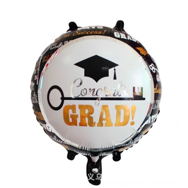 Kombinasyon Alüminyum Film Kombinasyon Balon Toptan 18inch Çember Mezuniyet Cap Sahne Dekorasyon Balon Yenilik Gag Oyuncak Alüminyum Fi