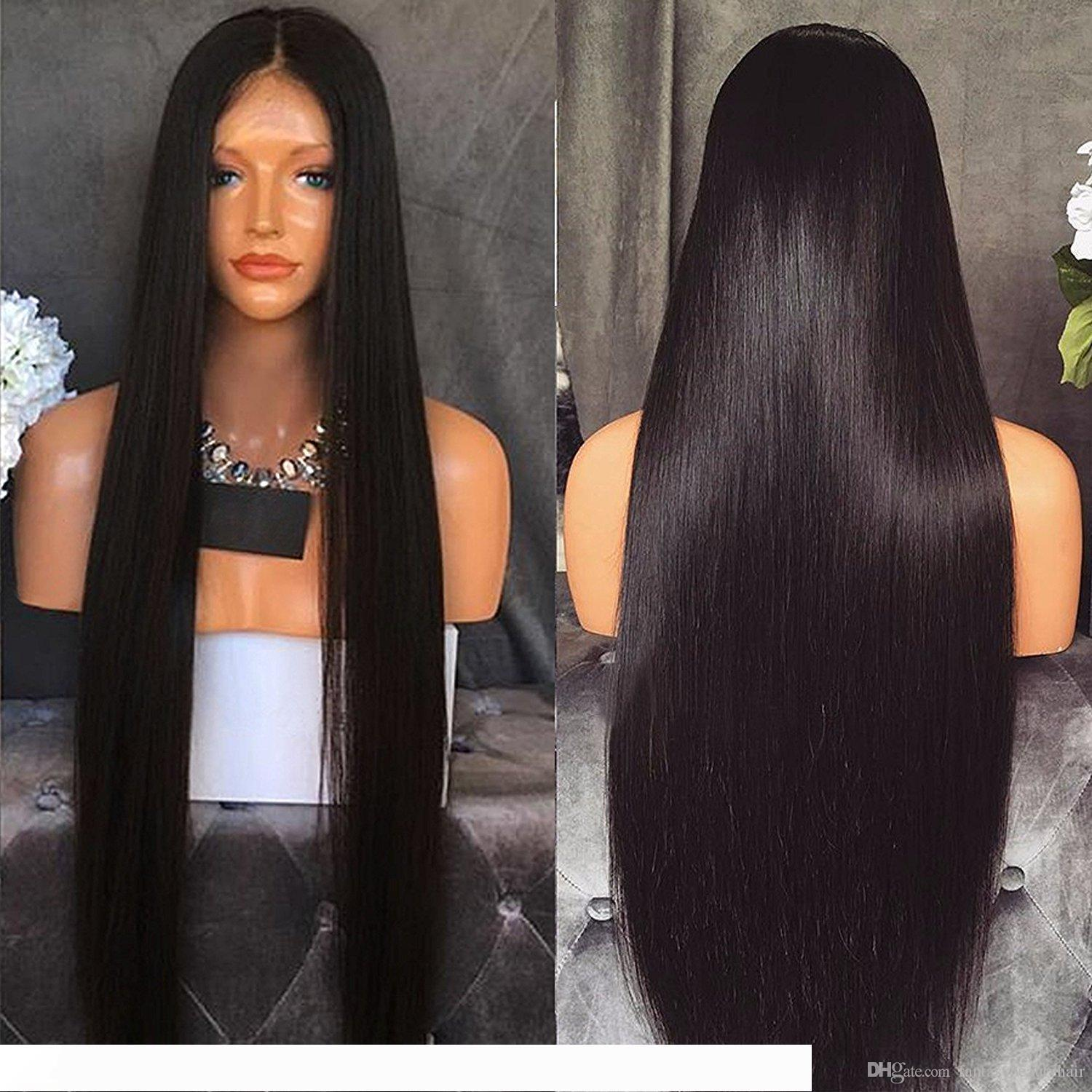 4x4 silk base lace front wigs silky straight Peruvian virgin hair silk top lace front wigs glueless silk top full lace wigs