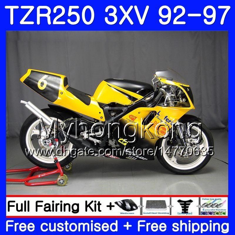 키트 YAMAHA TZR 250 3XV YPVS TZR-250 92 93 94 95 96 97 245HM.22 TZR250RR RS TZR250 1992 1993 1994 1995 1996 1997 옐로우 블랙 탑 페어링