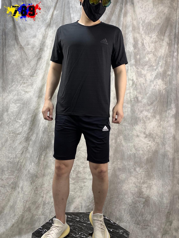 traje 2020 deportes ocasionales del verano de los hombres de traje traje de dos piezas de cuello redondo de manga corta de la tendencia de los pantalones carta de moda de los hombres 029