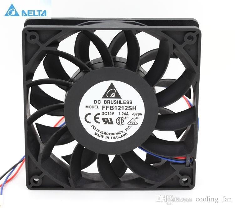 Delta FFB1212SH 12025 12cm 120mm CC 12V 1.24A boîtier inverseur serveur 3 broches refroidisseur axial ventilateurs industriels