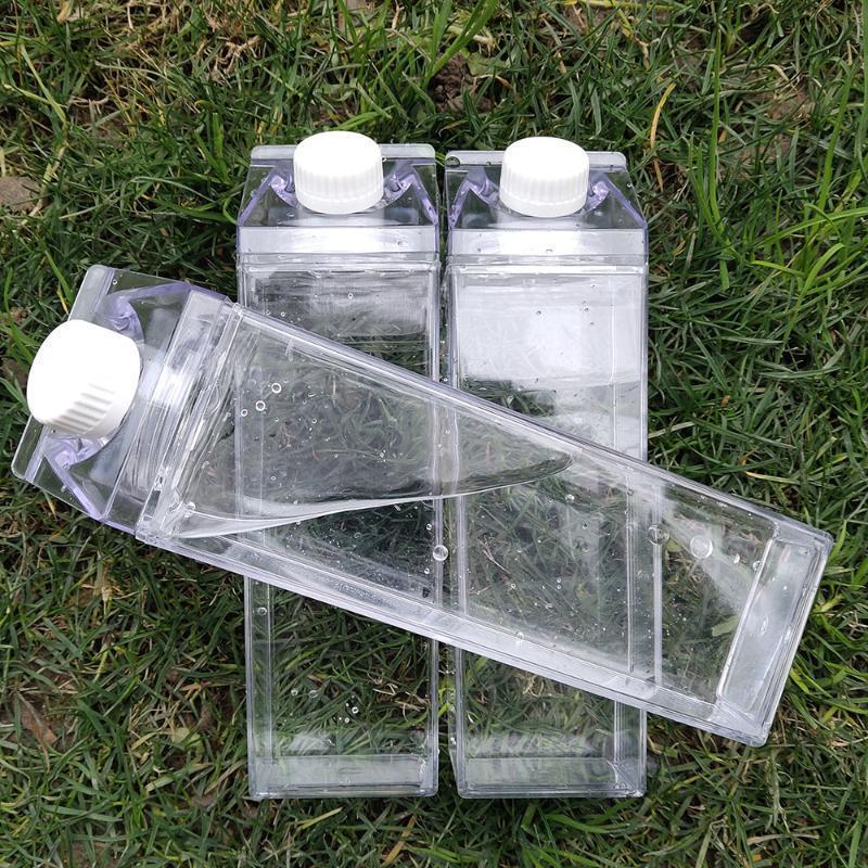 Cuisine créative Leakproof transparente Lait Bouteille d'eau Drinkware extérieur Escalade Visite Camping Enfants Hommes Lait Bouteilles d'eau