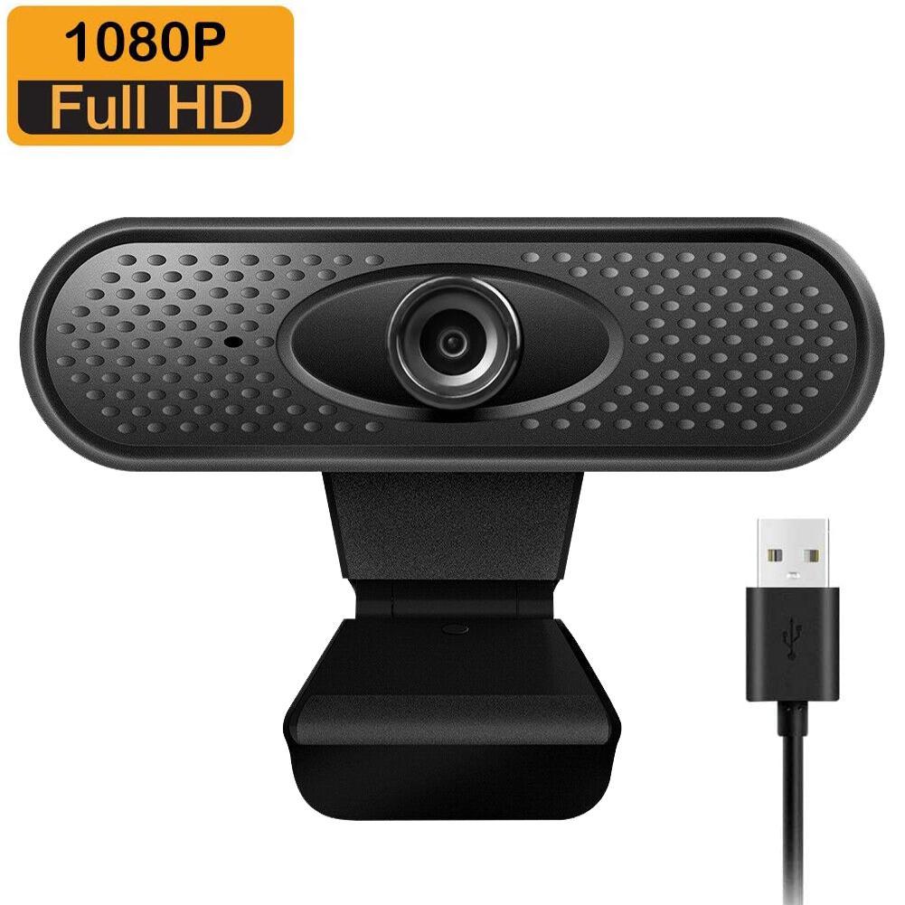 FHD 1080p Webcam Pro, câmera da Web com microfone de redução de ruído, câmera de computador USB widescreen para PC Mac laptop desktop video chamada