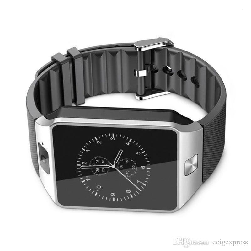 Bluetooth kamera çok fonksiyonlu akıllı saat lüks tasarım Android'i konumlandırma DZ09 Akıllı İzle Cep Telefonu İnternet dokunmatik ekran