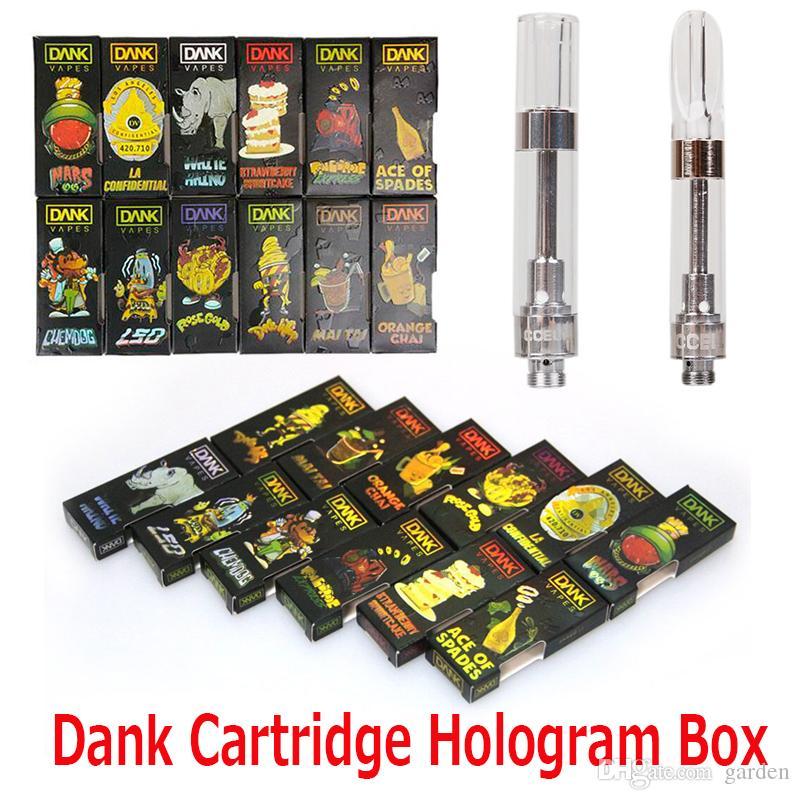 Black Package Dank Vapes Hologram 3D Box Side Cereal Carts