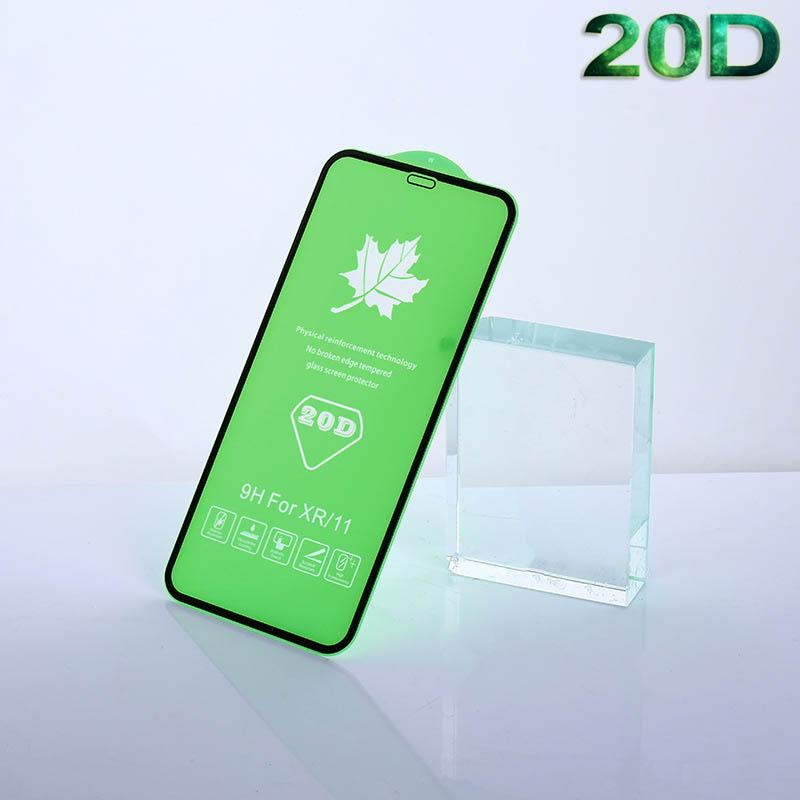 20D Tempered Glass for IPhone 11/11Pro/11 ProMax X/Xs XR XSMax 7P/8P 7/8 20D Anti-Scrath Front Screen Protector Full-Screen Steel Film