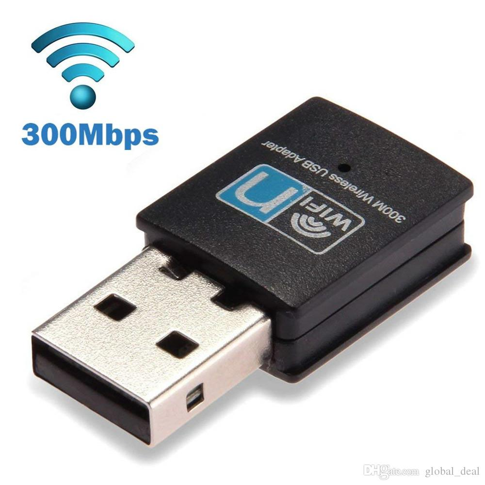 300Mbps USB Wireless N Wi-Fi Adapter w// 2 Antennas LAN Network 802.11 NGB PC