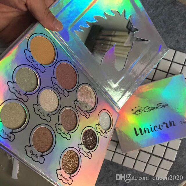 Neue Marke Die GlitterEyes Magica Einhorn-Palette 11 Farben-Augen-Schatten-Verfassungs-Palette Lidschatten DHL-freies Verschiffen