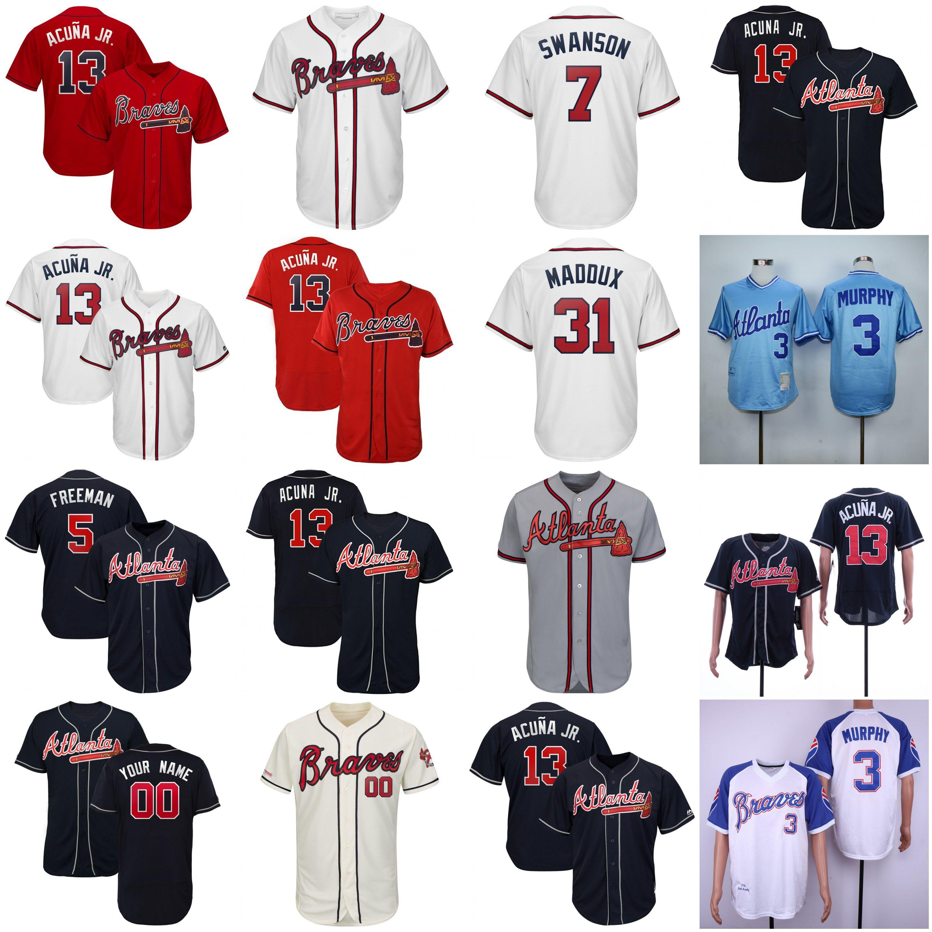wholesale dealer 0f69d eaf29 2019 Braves Ronald Acuna Jr. Jr Jersey Atlanta Austin Riley ...