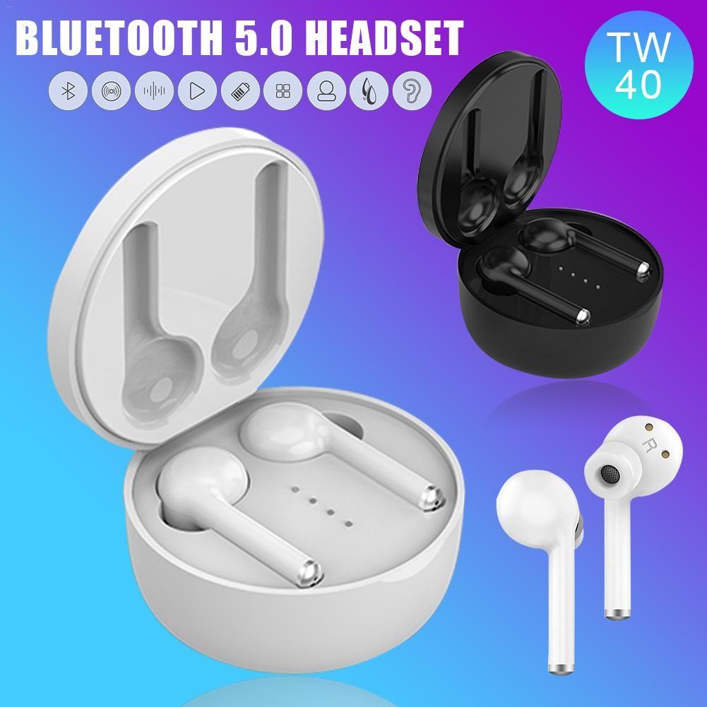 TW40 TWS Auricular inalámbrico Bluetooth 5.0 Auriculares Estéreo HiFi Auriculares con sonido Manos libres Llamar con auriculares Con micrófono incorporado
