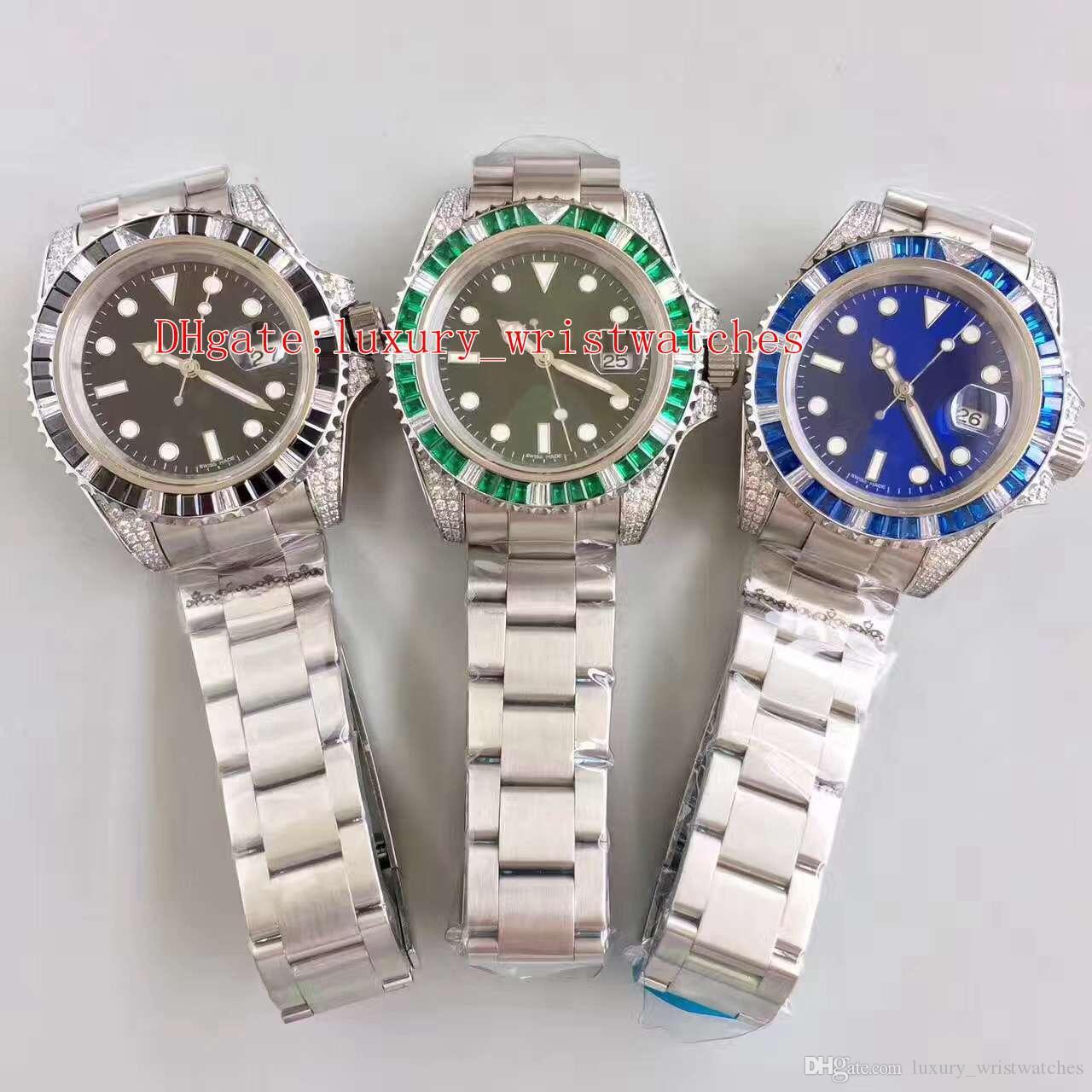 3 Farbe beste Qualität N-Fabrik V7 40mm Diamant-Lünette 116618 116610 116619 Edelstahl ETA 2836 Bewegung Automatik Herren-Uhr-Uhren