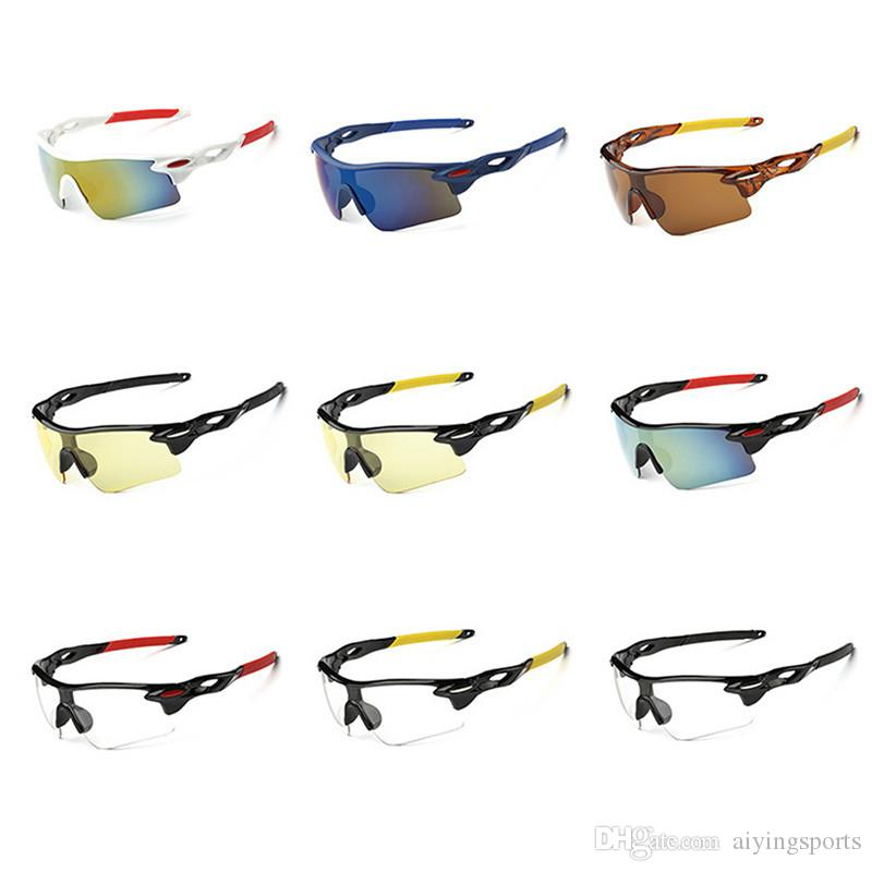 FASHIONAL ركوب الدراجات نظارات للجنسين في الهواء الطلق عدسة مكبرة UV400 الدراجة ركوب الدراجات نظارات رياضة ركوب الدراجات نظارات شمسية نظارات ركوب الخيل